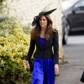 Kate Middleton attends Harry Meade & Rosie Bradford's wedding at the Church of St. Peter and St. Paul, Northleach, on October 23, 2010 in Cheltenham, England