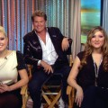 David Hasselhoff and daughters, Taylor-Ann and Hayley, stopped by Access Hollywood Live on December 3, 2010