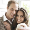 Prince William and Kate Middleton's official engagement photo, taken in London on November 25, 2010