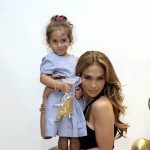 Jennifer Lopez and daughter Emme attend the Gucci Children's Collection event on November 20, 2010 in Beverly Hills