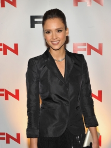 Jessica Alba attends the 24th Annual Footwear News Achievement Awards at The Museum of Modern Art, NYC, November 30, 2010
