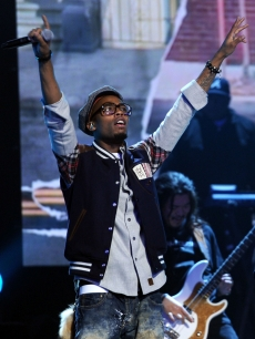 B.o.B performs onstage during the Grammy Nominations Concert Live at Club Nokia in Los Angeles on December 1, 2010