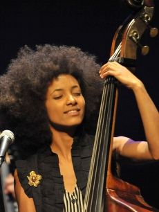 Esperanza Spalding performs in concert at the Broad Stage on October 7, 2010 in Santa Monica, Calif.