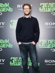 "Seth Rogen attends the ""The Green Hornet"" film photocall at the Ritz Carlton hotel in Moscow on December 8, 2010"