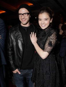 "Justin Timberlake and Hailee Steinfeld at the ""True Grit"" Los Angeles Industry Screening at the Academy of Motion Picture Arts and Sciences in Beverly Hills on December 9, 2010"