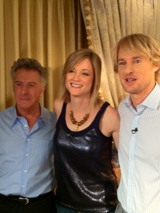 "Dustin Hoffman, Teri Polo and Owen Wilson seen at the ""Little Fockers"" junket on December 12, 2010"