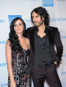 Katy Perry and husband Russell Brand attend the 2nd Annual David Lynch Foundation's Change Begins Within Benefit Celebration at The Metropolitan Museum of Art, NYC, December 13, 2010