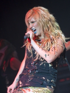 Ke$ha performs on stage at Shepherds Bush Empire, London, December 14, 2010