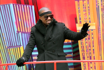Kanye West attends the 84th Annual Macy&#8217;s Thanksgiving Day Parade in New York City on November 25, 2010 