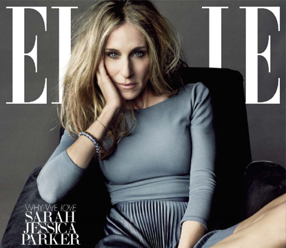 Sarah Jessica Parker on the cover of ELLE's January issue