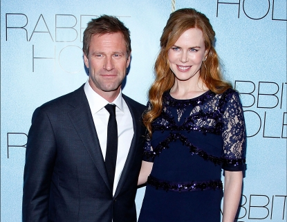 Aaron Eckhart and Nicole Kidman attend the premiere of &#8220;Rabbit Hole&#8221; at the Paris Theatre in New York City on December 2, 2010