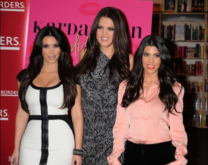 "Kim Kardashian, Khloe Kardashian and Kourtney Kardashian attend the ""Kardashian Konfidential"" book signing at Borders in Century City, Calif. on December 2, 2010"