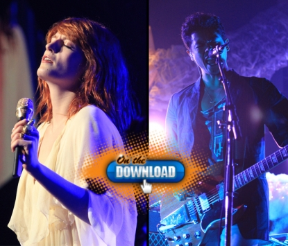 Florence Welch of Florence and The Machine (left) and Dougy Mandagi of The Temper Trap (right), at KROQ&#8217;s Almost Acoustic Christmas Night 2, Gibson Amphitheatre, LA, Dec. 12, 2010
