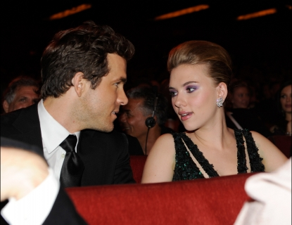 Ryan Reynolds and Scarlett Johansson in the audience at the 64th Annual Tony Awards at Radio City Music Hall, NYC, June 13, 2010