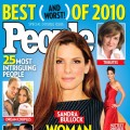 Sandra Bullock on the cover of People&#8217;s magazine&#8217;s The 25 Most Intriguing People of 2010 issue.