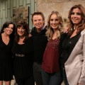 Kit Hoover, Carnie WIlson, Billy Bush, Chynna Phillips and Wendy Wilson on the set of Access Hollywood Live in LA on December 15, 2010