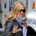 "Jennifer Aniston is seen on location for ""Wanderlust"" on the streets of Manhattan on November 20, 2010 in New York City"