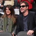 Penelope Cruz and Javier Bardem attend a game between the Miami Heat and the Los Angeles Lakers at Staples Center in LA on December 25, 2010