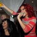 Rihanna celebrates New Year&#8217;s Eve at PURE Nightclub at Caesars Palace on December 31, 2010 in Las Vegas