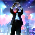 Jay-Z performs onstage at The Cosmopolitan Grand Opening and New Year&#8217;s Eve Celebration at Marquee Nightclub in The Cosmopolitan on December 31, 2010 in Las Vegas