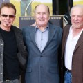 Billy Bob Thornton, Robert Duvall and James Caan attend Duvall's hand and footprint ceremony at Grauman's Chinese Theatre, Hollywood, Jan. 5, 2011