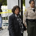 Katherine Jackson arrives for day three of the preliminary hearing for Dr Conrad Murray in Los Angeles on January 6, 2011