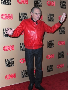 The man himself &#8212; Larry King &#8212; rejoices on the red carpet of CNN&#8217;s &#8220;Larry King Live&#8221; final broadcast party at Spago restaurant on December 16, 2010 in Beverly Hills