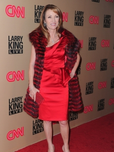"Jane Seymour hits the red carpet at CNN's ""Larry King Live"" final broadcast party at Spago restaurant on December 16, 2010 in Beverly Hills"