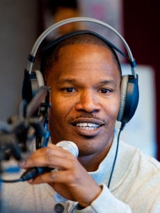 Jamie Foxx visits radio station Power 99 in Bala Cynwyd, Pennsylvania on December 17, 2010