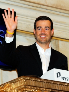 Carson Daly rings the opening bell at The New York Stock Exchange, NYC, December 30, 2010