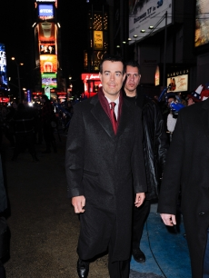 Carson Daly hits Times Square to host his annual New Year&#8217;s Eve bash on NBC on December 31, 2010 in New York City