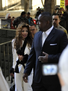LaToya Jackson arrives for the preliminary hearing for Dr Conrad Murray in Los Angeles on January 4, 2011