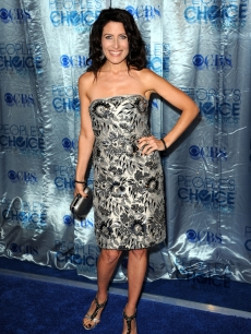 """House's"" Lisa Edelstein arrives at the 2011 People's Choice Awards at Nokia Theatre L.A. Live, Los Angeles, January 5, 2011"