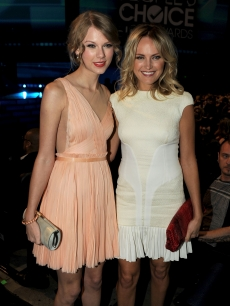 Taylor Swift and Malim Akerman attend the 2011 People's Choice Awards at Nokia Theatre L.A. Live, Los Angeles, January 5, 2011