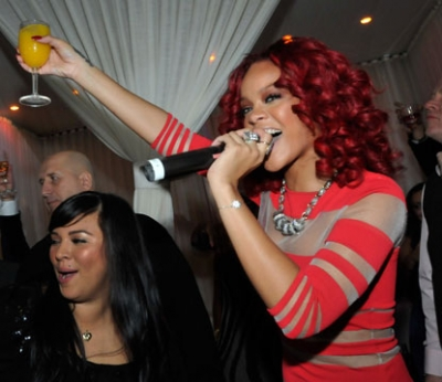 Rihanna celebrates New Year's Eve at PURE Nightclub at Caesars Palace on December 31, 2010 in Las Vegas