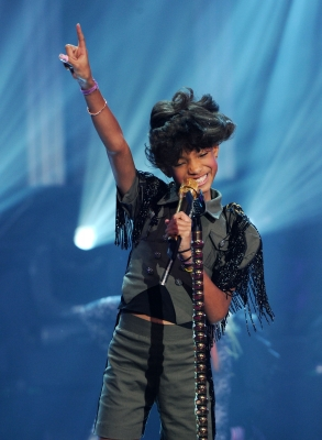 "Willow Smith takes the stage during ""Dick Clark's New Year's Rockin' Eve With Ryan Seacrest"" at Center Staging on December 31, 2010"