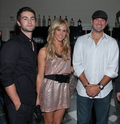 Chace Crawford, Candice Crawford and NFL star Tony Romo attend the The New Yorker party during White House Correspondents dinner weekend at the W Hotel in Washington, DC on April 30, 2010
