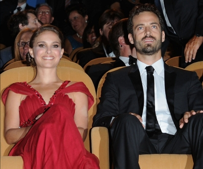 Natalie Portman and Benjamin Millipied in September 2010
