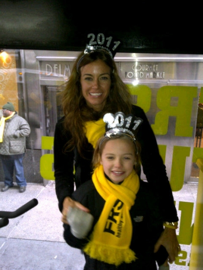 Kelly Bensimon and daughter Teddy Bensimon prepare to celebrate New Year's Eve 2010, NYC, Dec. 31, 2010