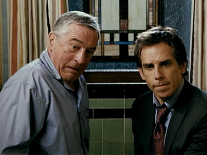 "Robert De Niro and Ben Stiller and in a scene from ""Little Fockers"""