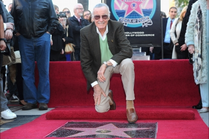 Stan Lee attends a ceremony honoring him with the 2,428th star on the Hollywood Walk of Fame in Hollywood, Calif. on January 4, 2011