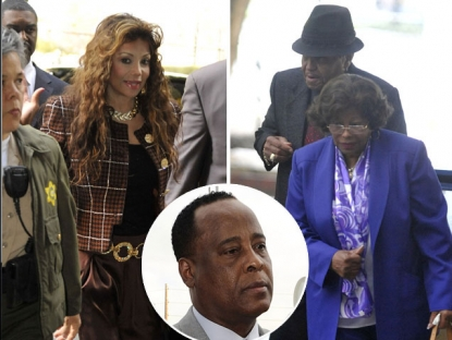 LaToya, Joe and Katherine Jackson arrive for the second day of the preliminary hearing for Dr Conrad Murray on January 5, 2011 in Los Angeles / Dr. Conrad Murray