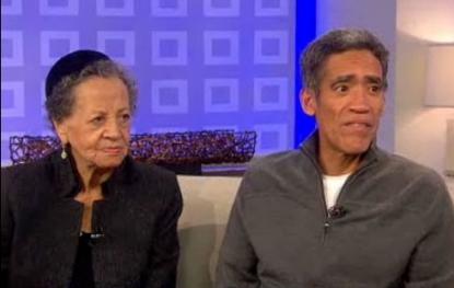 "Ted Williams and mom Julia Williams on NBC's the ""Today"" show on January 7, 2011"