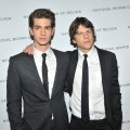 """The Social Network"" stars Andrew Garfield and Jesse Eisenberg step out for the 2011 National Board of Review of Motion Pictures Gala in New York City on January 11, 2011"