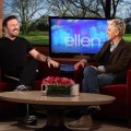 "Ricky Gervais makes an appearance on ""The Ellen DeGeneres Show,"" Burbank, Calif., Jan. 12, 2011"