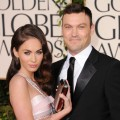 Megan Fox and Brian Austin Green arrive at the 68th Annual Golden Globe Awards held at The Beverly Hilton hotel, Beverly Hills, January 16, 2011