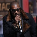 Kanye West performs at the 84th Annual Macy&#8217;s Thanksgiving day parade rehearsal at Macy&#8217;s Herald Square in New York City on November 22, 2010