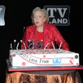 Betty White blows out her candles at her 89th birthday party at Le Cirque in New York City on January 18, 2011