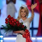 Teresa Scanlan, Miss Nebraska, waves after being crowned Miss America during the 2011 Miss America Pageant at the Planet Hollywood Resort &amp; Casino in Las Vegas on January 15, 2011 