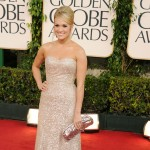 Carrie Underwood arrives at the 68th Annual Golden Globe Awards held at The Beverly Hilton hotel in Beverly Hills on January 16, 2011